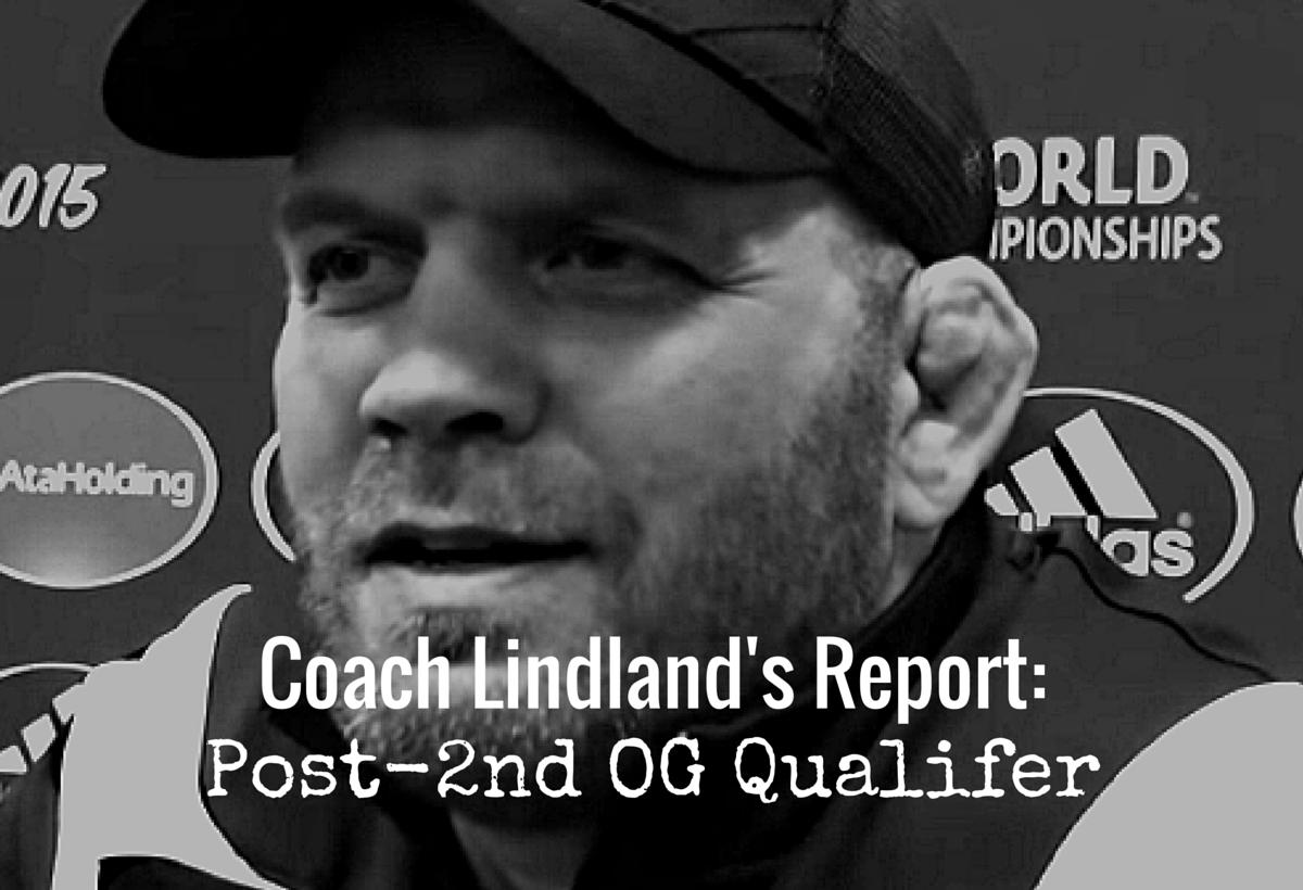 Coach Lindland's Report- (5)