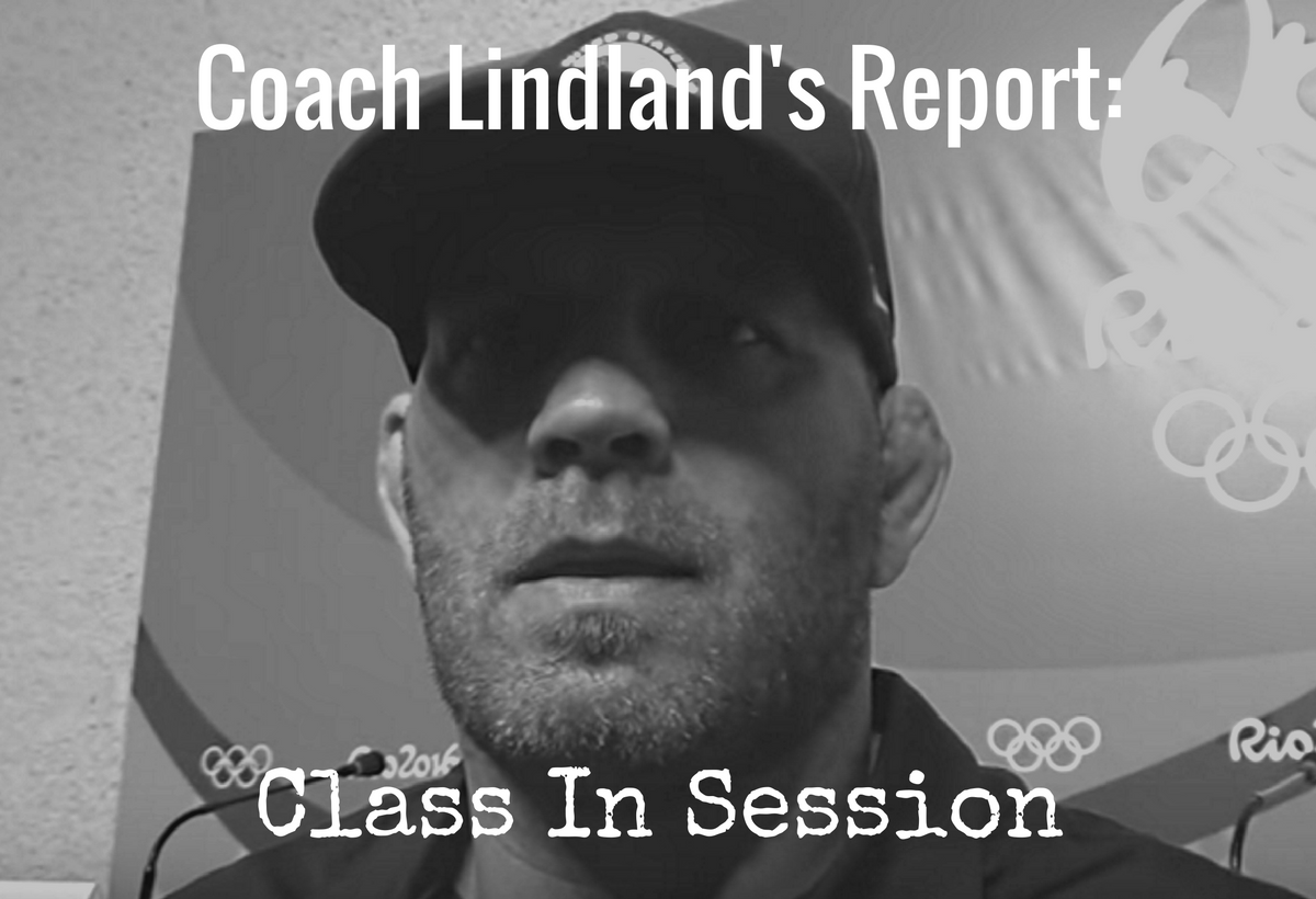 Coach Matt Lindland, September 2016 Greco Report