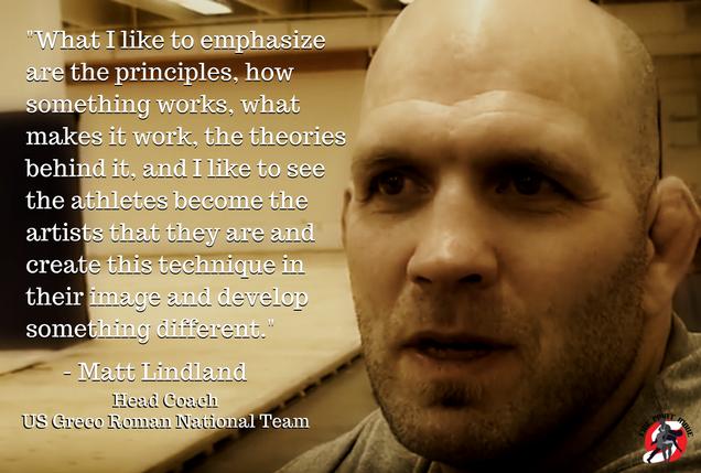 Coach Matt Lindland quote