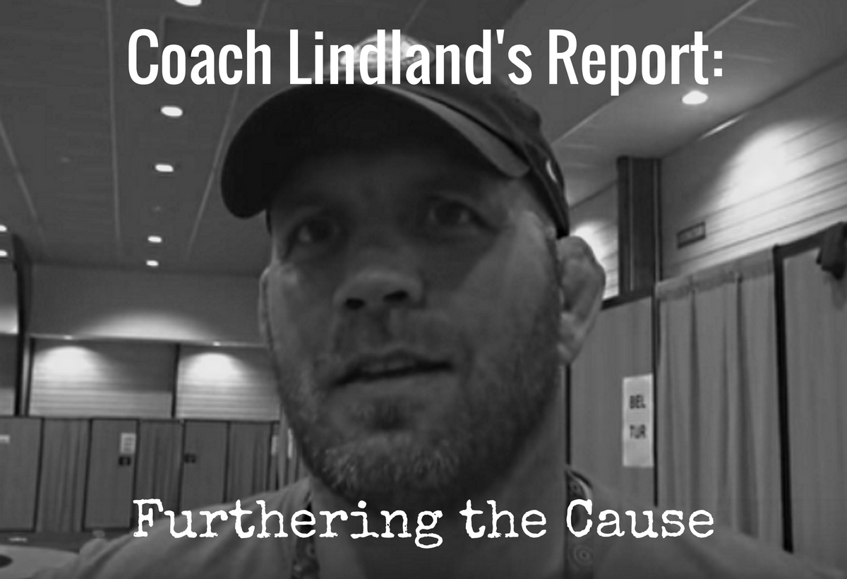 US Greco coach Matt Lindland, Furthering the Cause