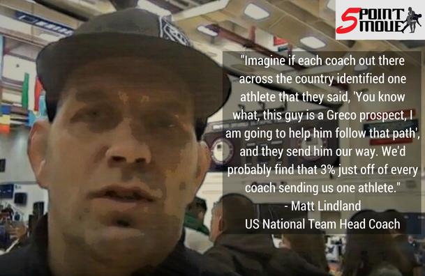 US Coach Matt Lindland 3% quote