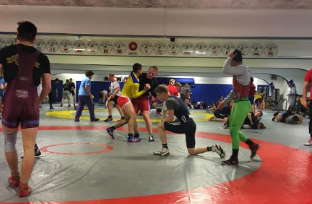 US wrestlers training with Team Skåne Brottning