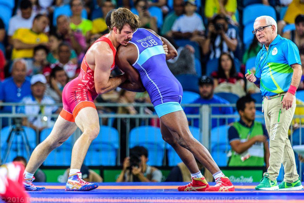 2016 Olympics, Greco Roman, USA Andy Bisek