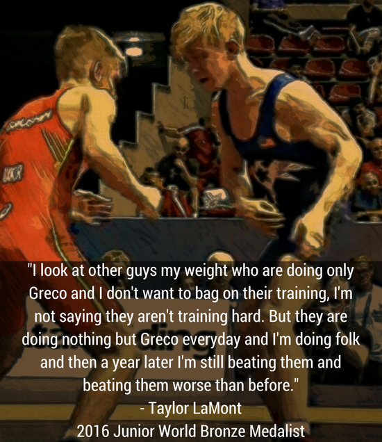Taylor LaMont US Greco quote
