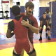 Andy Bisek demonstrates an off-balance Greco technique