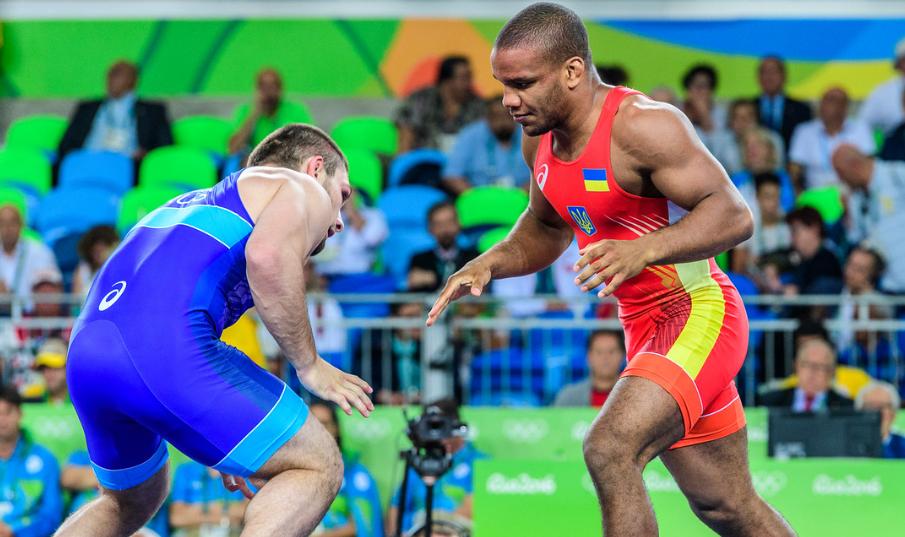Zhan Belenyuk at the 2016 Olympics