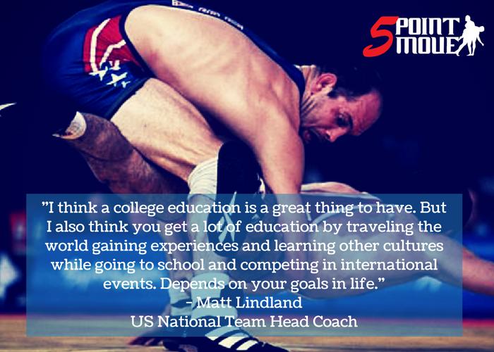 Coach Lindland on college or international Greco-Roman