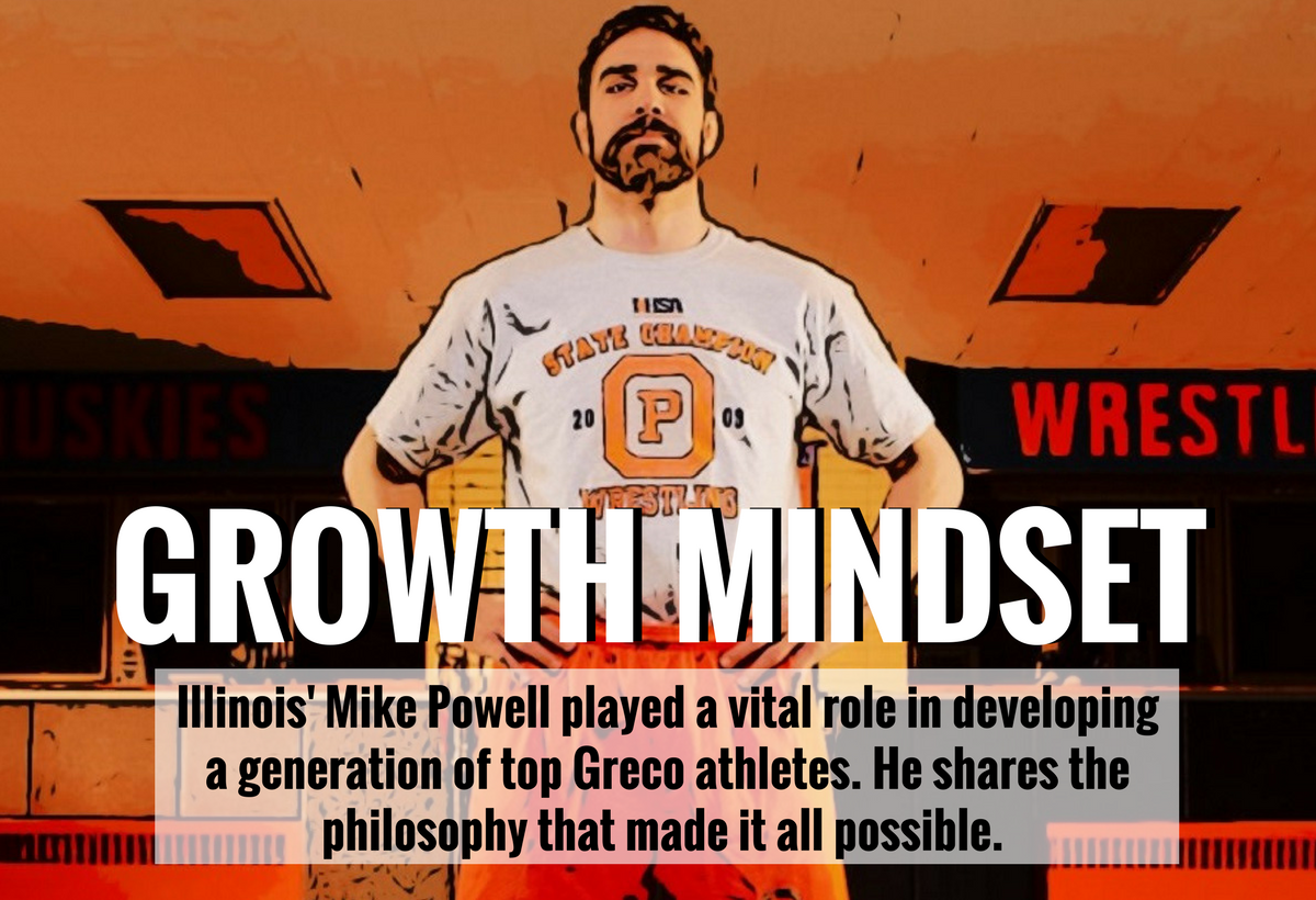 Illinois Greco-Roman coach Mike Powell