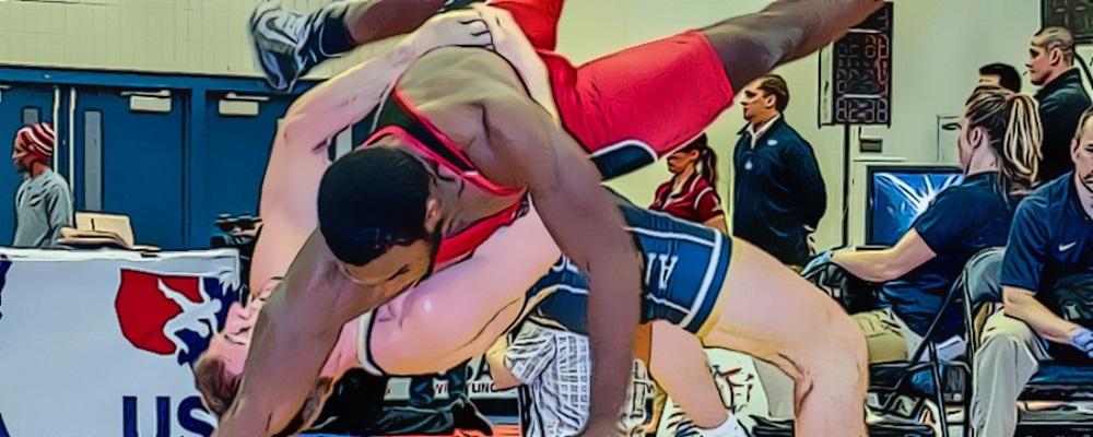 ryan hope demonstrates straddle lift for greco-roman wrestling