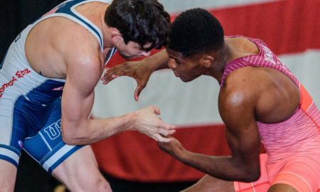 the us greco-roman seniors at the tbilisi grand prix -- alex sancho and ellis coleman