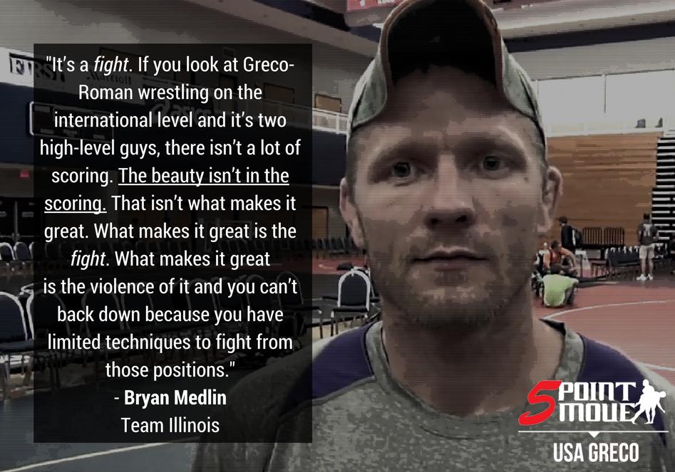 Bryan Medlin, Team Illinois Greco-Roman