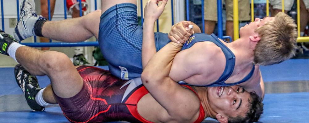 Peyton Omania took second at the 2017 Fargo Greco-Roman Nationals