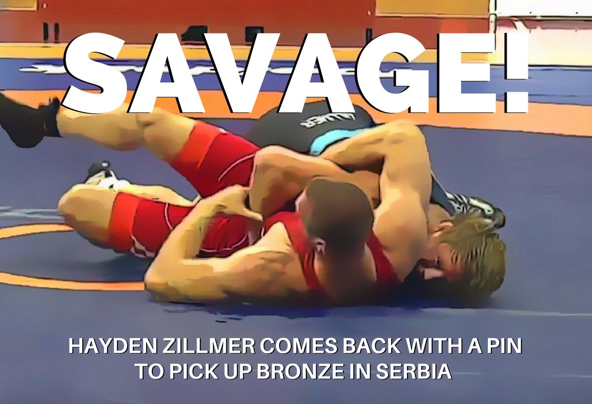 Hayden Zillmer, bronze medal, Serbia