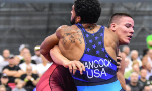 G'Angelo Hancock, 130 kg, at the 2017 U23 Greco-Roman World Championships