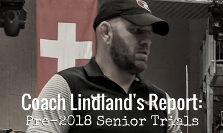 coach matt lindland, pre-2018 us senior greco-roman world team trials
