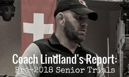 coach matt lindland, pre-2018 us senior greco-roman world team trials