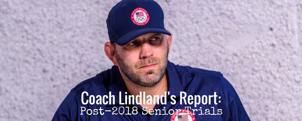 Coach Matt Lindland, post-2018 Senior World Team Trials