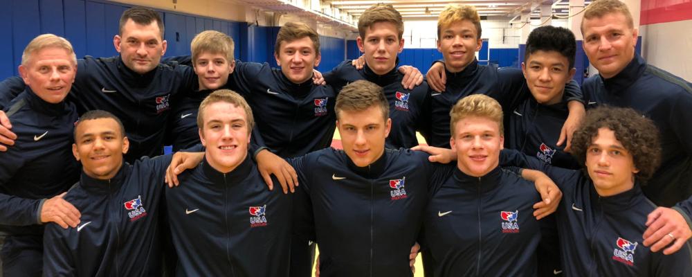team usa greco-roman, 2018 cadet world championships