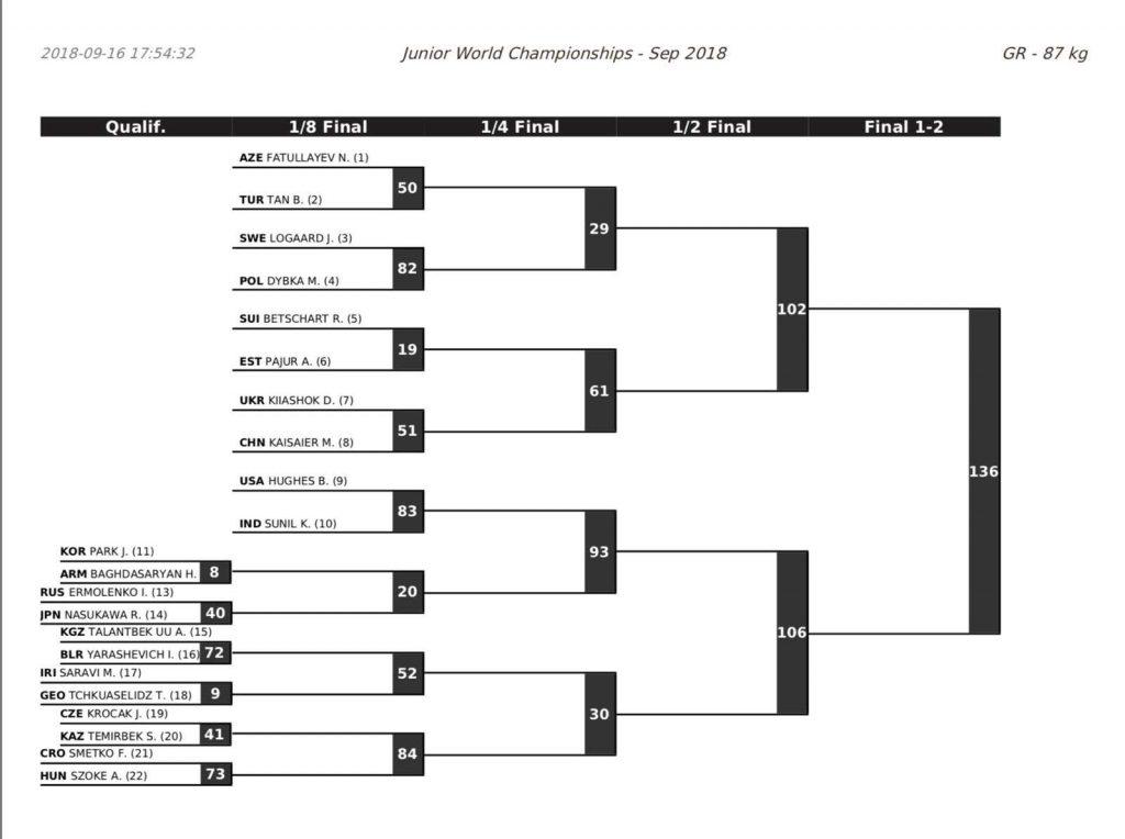 87 kg, 2018 Junior Greco Worlds
