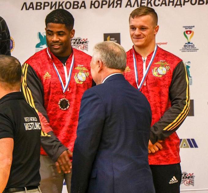 Johnson and Bunker, 67 kg bronze at the 2018 SA Lavrikov Memorial in Russia
