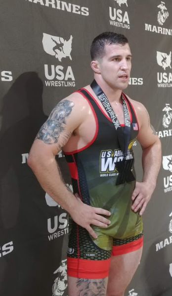 lucas sheridan after winning the 2019 world team trials challenge tournament at 97 kilograms.