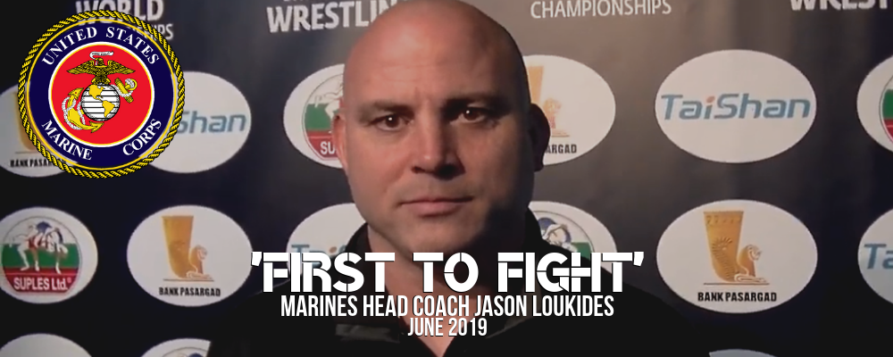 Marines head coach Jason Loukides after Final X