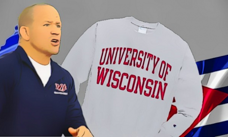 dennis hall, wisconsin sweatshirt
