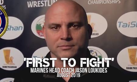 Marines head coach Jason Loukides, august 2019