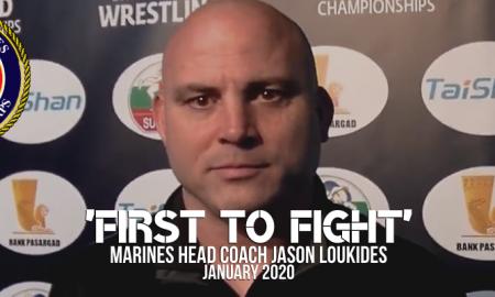 Marines head coach Jason Loukides, january 2020