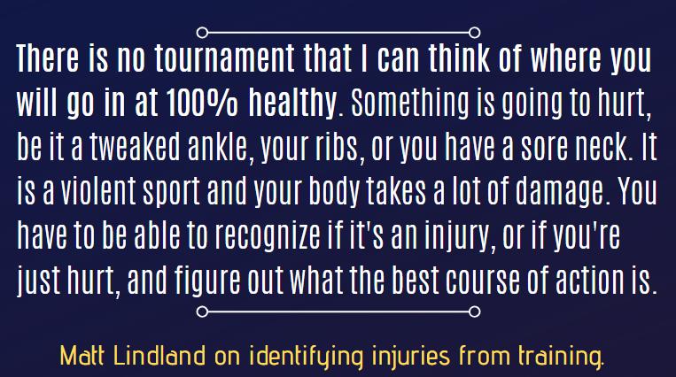 lindland on injuries